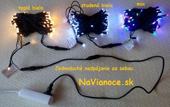 vianoèné osvetlenie LED vonkajšie